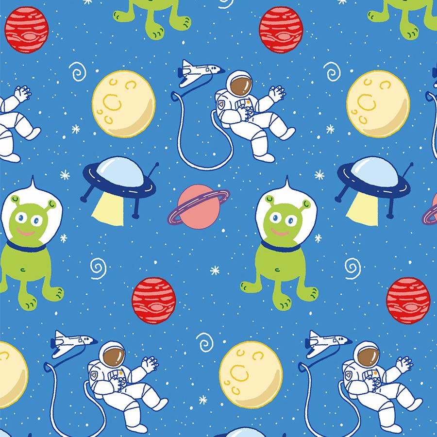 Pattern Weltall Alien