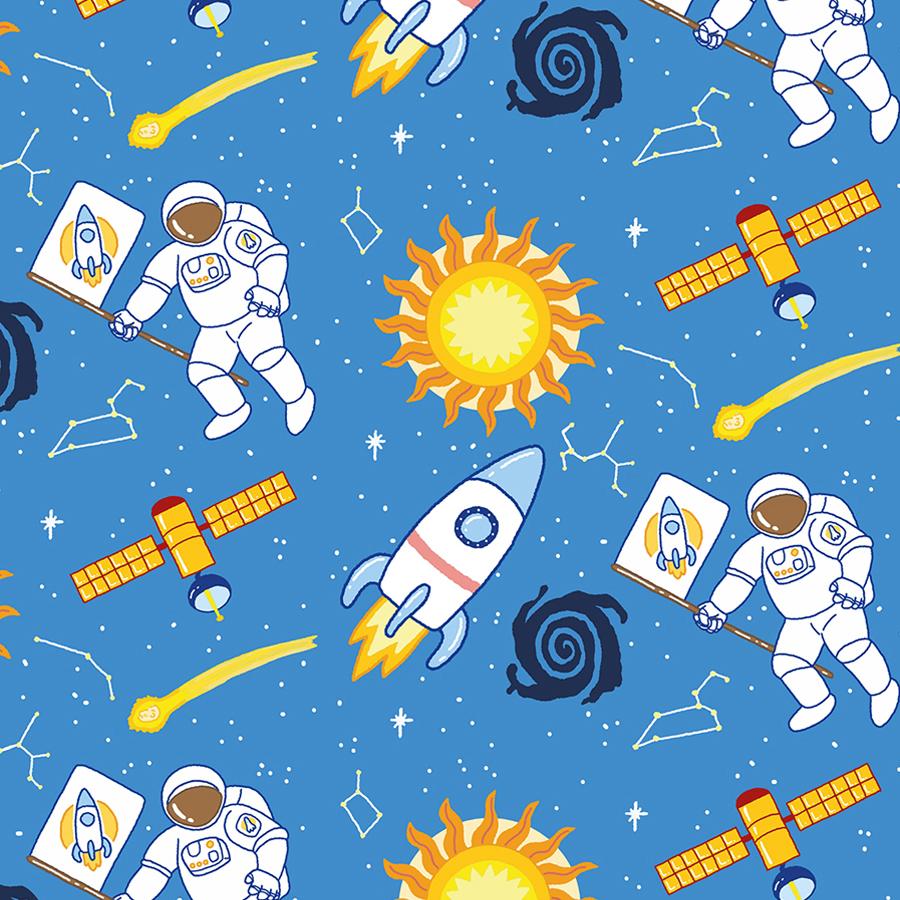 Pattern Weltall Astronaut