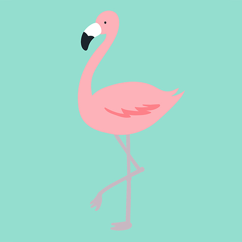 Surface Design Flamingos 1