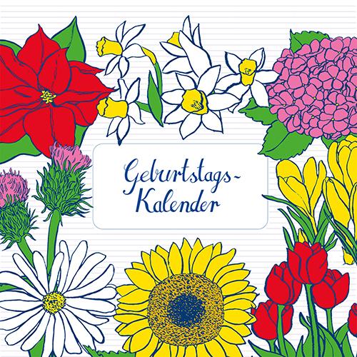 Surface Design Geburtstagskalender mit Blumen