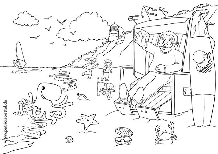ausmalbilder für elbsilber - patricia oettel illustration