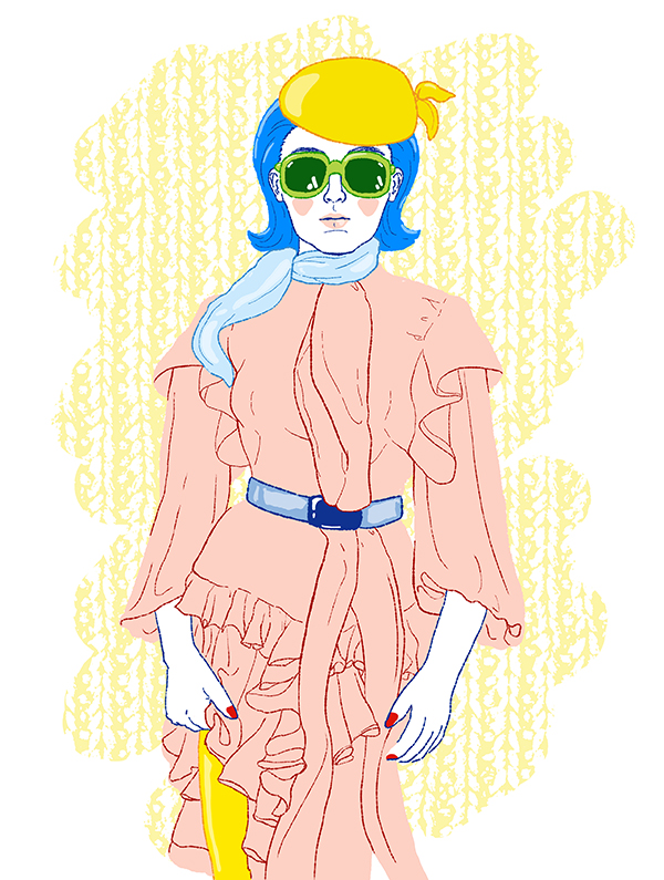 Mode Illustration Kleid