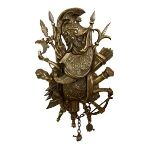 antique-bronze-trophy-shield-with-helmet-and-attributes-plaque-4715
