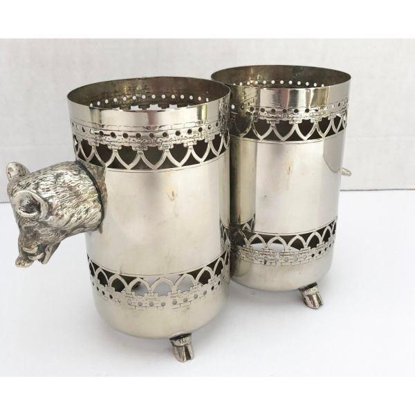 wild-boar-double-bottle-holder-silver-plate-rare-5267