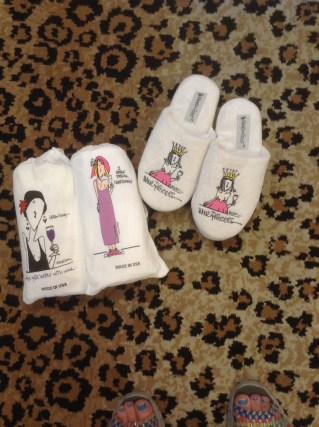 Nightshirts and slippers