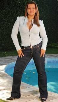 """modelo de calca jeans para gordinha1 - Escondendo os """"quilinhos extras""""."""