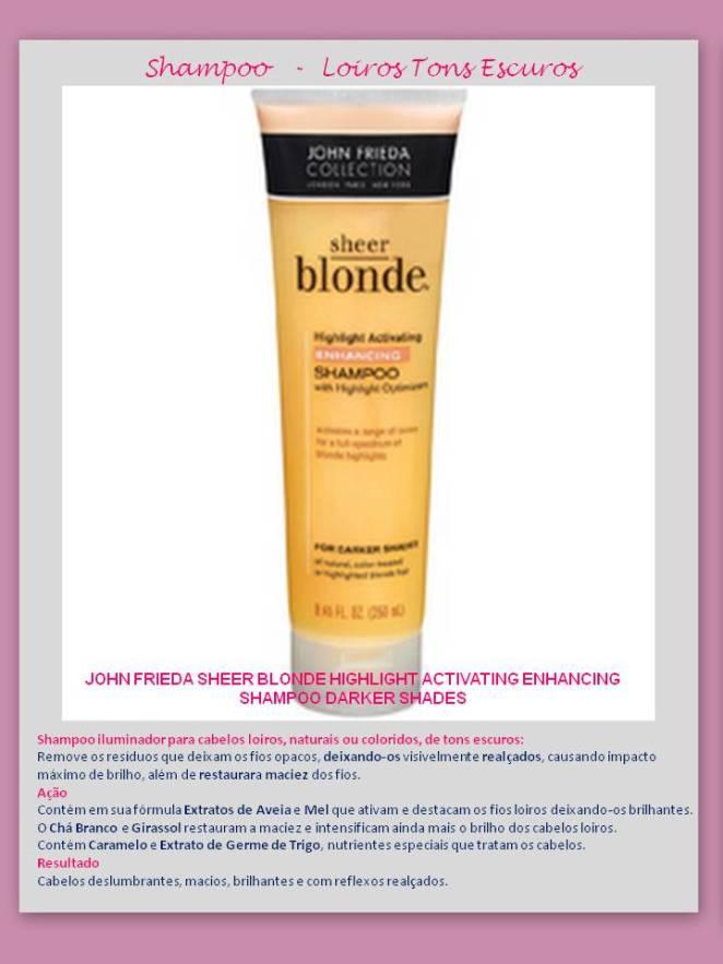 Shampoo Highlight Enhancing - Eu uso – Shampoo para CABELOS LOIROS – Jhon Frieda!