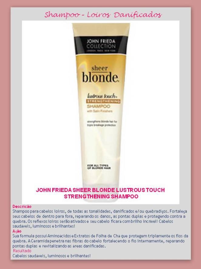 Shampoo Lustrous Touch - Eu uso – Shampoo para CABELOS LOIROS – Jhon Frieda!