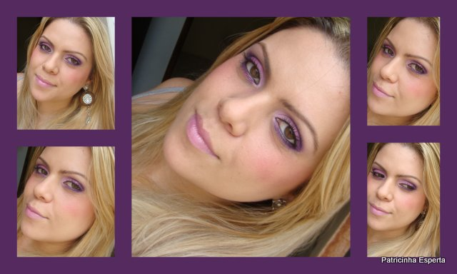 Colagens21 - Tutorial : Make Roxo e Rosa