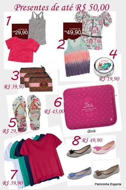 Colagens2 - Presentes de até R$ 50,00 para ela...