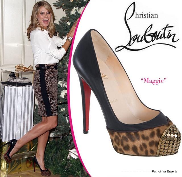 Heidi Klum Christian Louboutin  maggie cap toe - O Antigo Novo Chique - Cap Toe