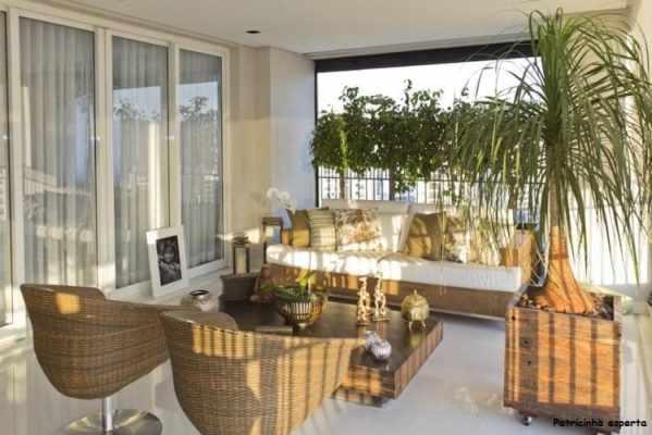 Varanda Gourmet de Apartamento em SP de 310 m com Projeto de Interiores por Mayra Lopes - Fibra na decoração...