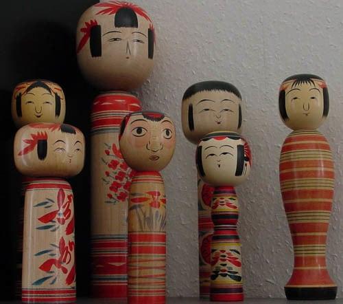 kokeshi estilo tradicional - Minhas Kokeshis e um pouco de história sobre elas