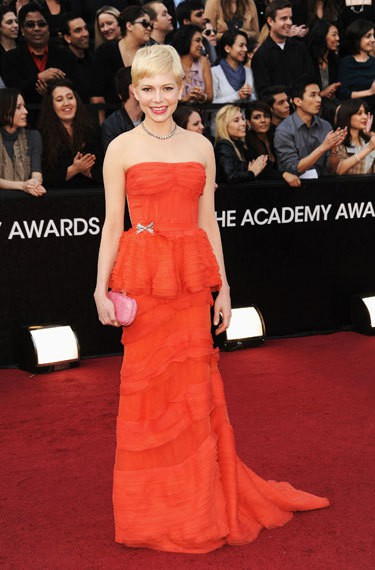 Michelle Williams oscar 2012 de - Os 5 melhores looks do Oscar 2012