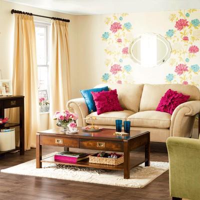 decorar paredes papel de parede flores - Primavera o ano todo