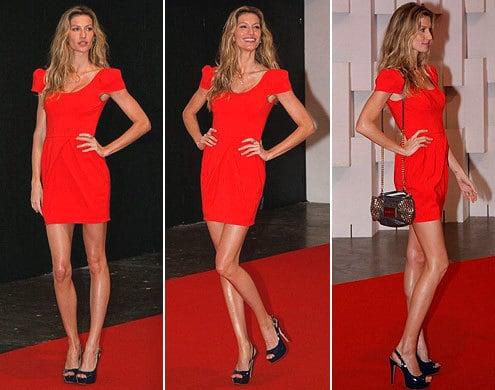 gisele bundchen vestido - Vermelho é puro glamour...