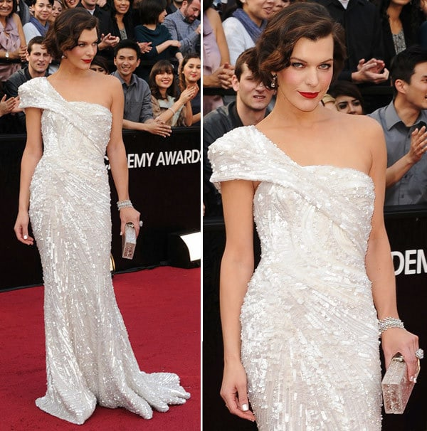 vestidos oscar 2012 milla jovovich - Tutorial - Maquiagem inspirada na atriz Milla Jovovich  - Oscar 2012