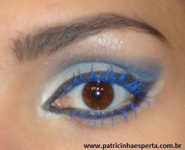 014post - Maquiagem para noite com rímel azul