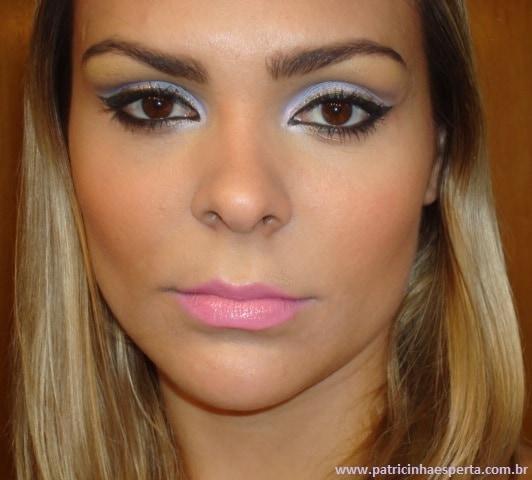 039post - Tutorial - Maquiagem lilás com delineado preto e dourado (glitter)