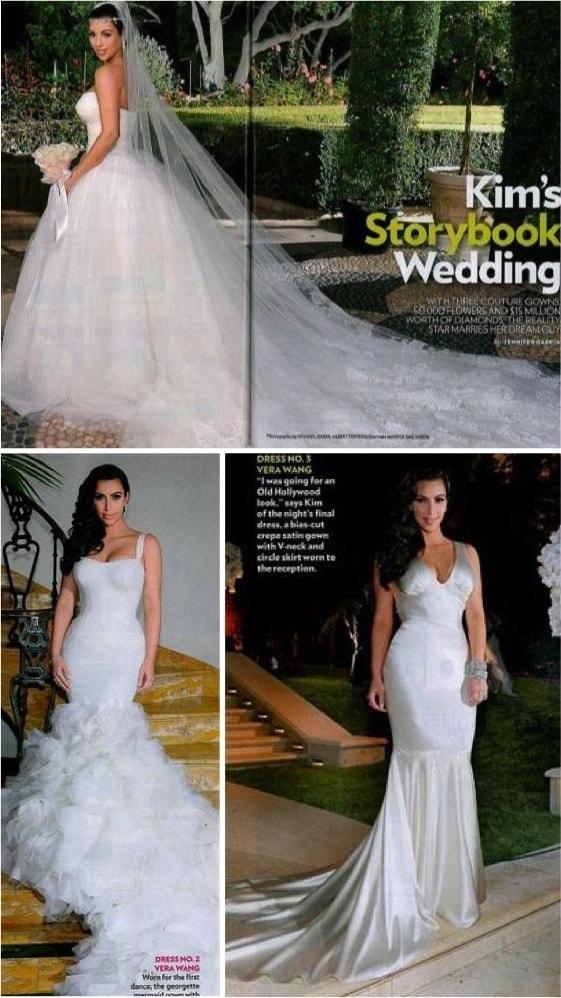 Kim Kardashian - Os vestidos de noiva das famosas (parte 2)
