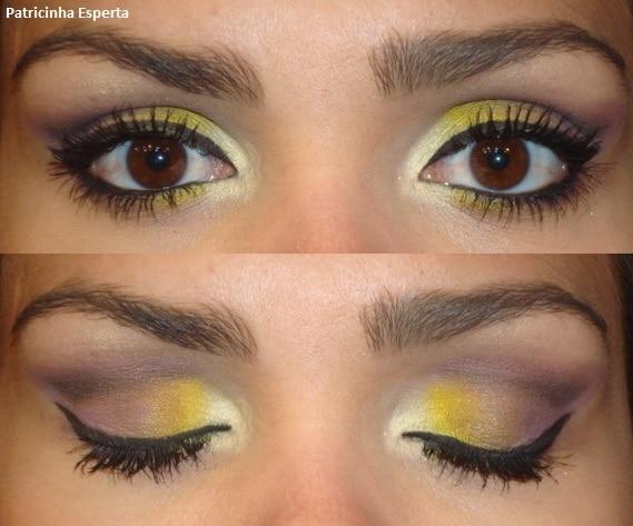 038post2 - Maquiagem Colorida para o Outono (Mostarda e Uva)
