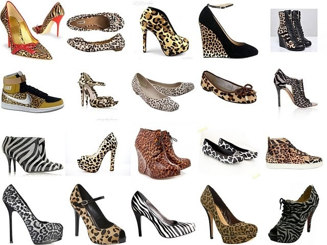 animal print shoes tile - Os sapatos do inverno 2012