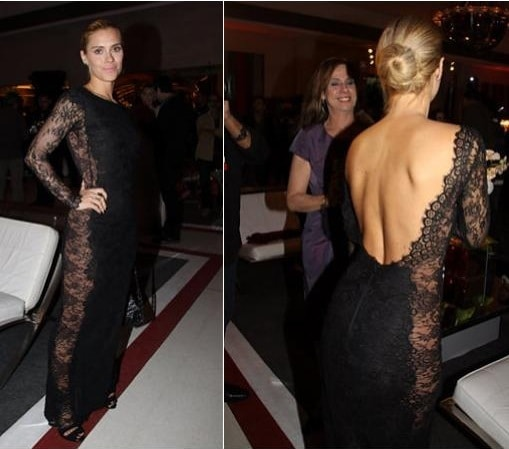 vestido de renda carolina dieckmann - Os looks da Carol