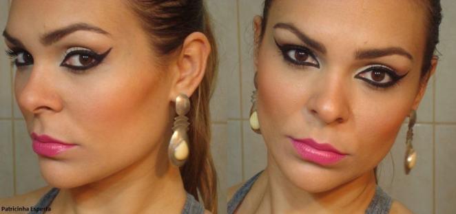 086 - Maquiagem com Delineado Marcante e Boca Pink