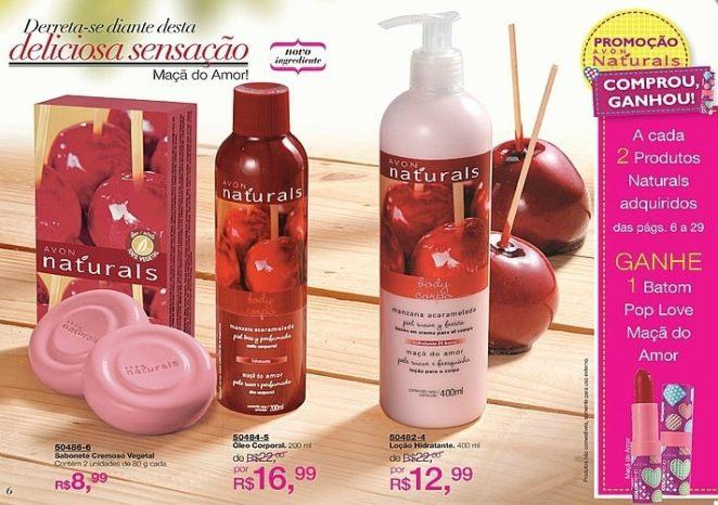 PG4 Avon fabiofsjunior.blogspot.com  - Hidratante Corporal - Linha Avon Naturals Maçã do Amor - SUPER PROMOÇÃO!!!