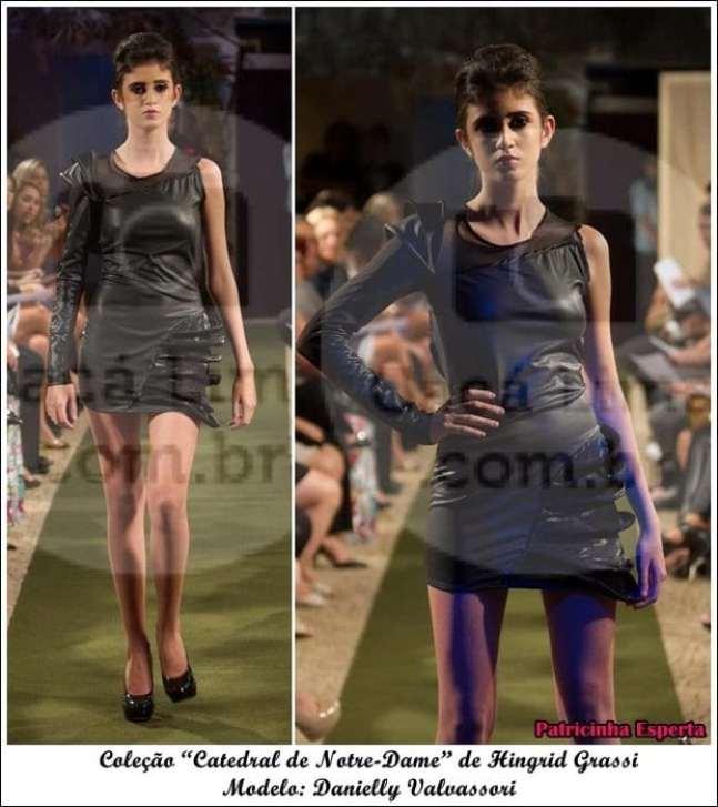 """Danielly frente - Moda Paris – Desfile da Coleção """"Catedral de Notre-Dame"""" de Hingrid Grassi"""