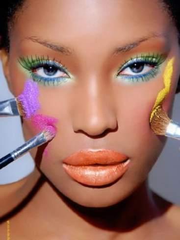 Dark Skin Makeup1 - Como Maquiar Peles Negras – Sombras, Batons e Blush