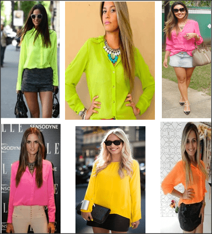 Snap 2012 11 27 at 14.41.18 - Camisas Neon! Tendência total!