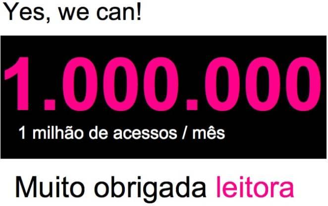 muito obrigada - 1 Milhão de Visitantes Por Mês: Muito Obrigada!