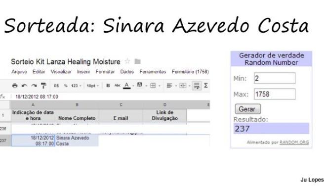 Capturas de tela8 - Resultado do Sorteio Kit Lanza Healing Moisture