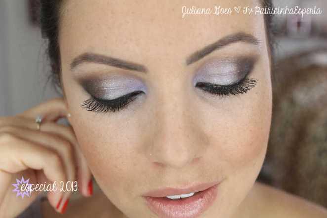 juliana goes maquiagem lilas - Esfumado Lilás, Dourado e Preto: Especial 2013!