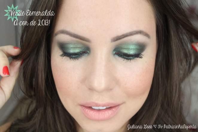 juliana goes esmeralda - Esfumado Verde Metalizado e Poderoso: Tendência 2013!