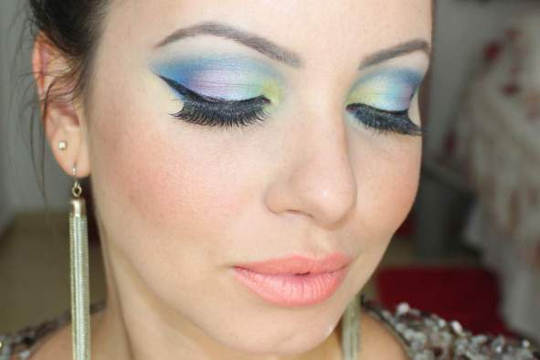 make color - Tutorial: Maquiagem Colorida para arrasar no Carnaval