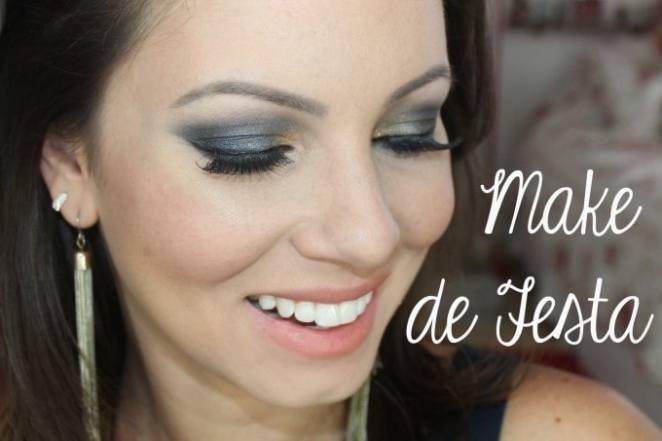 juliana goes festa 680x453 - Maquiagem de Festa: Azul Marinho e Dourado