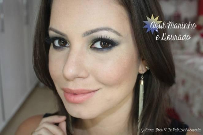 juliana goes fotos 680x453 - Maquiagem de Festa: Azul Marinho e Dourado
