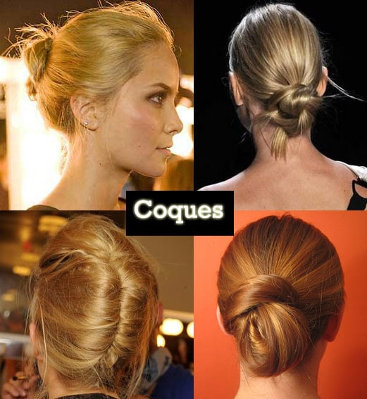 penteado coques modelos 5 - Truques de beleza rápidos para dias corridos