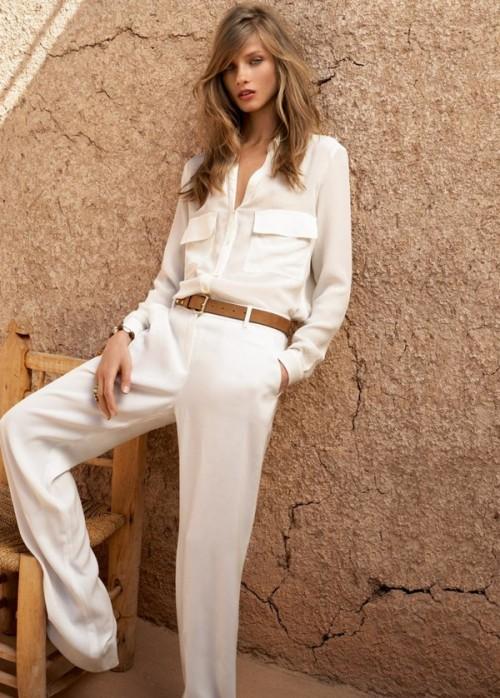 Mango White pant.shirt  e1335310818744 - Camisa branca: como usar?