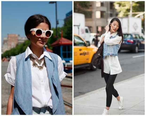 denim vest white shirt - Camisa branca: como usar?