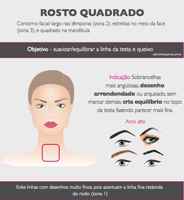 rosto quadrado.001 - Design de sobrancelhas: como fazer?