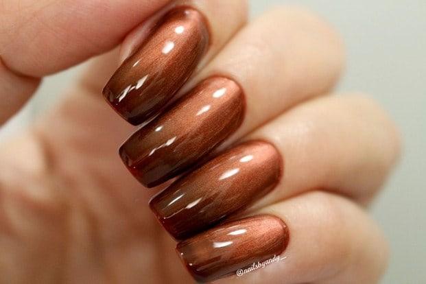 marrom black - Esmalte degradê Bruna Marquezine - cores incríveis