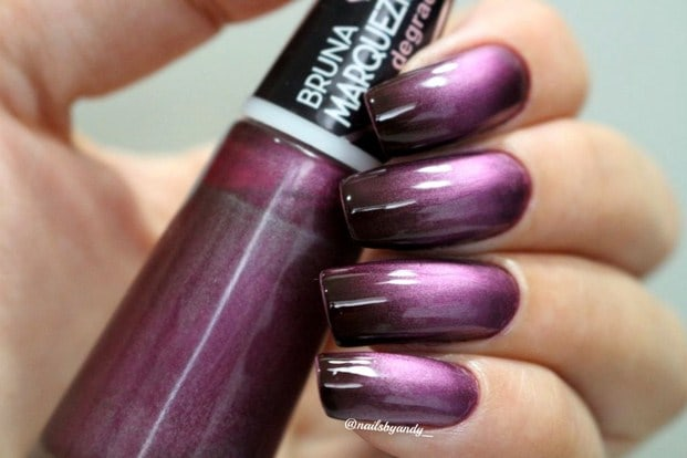 violeta black - Esmalte degradê Bruna Marquezine - cores incríveis