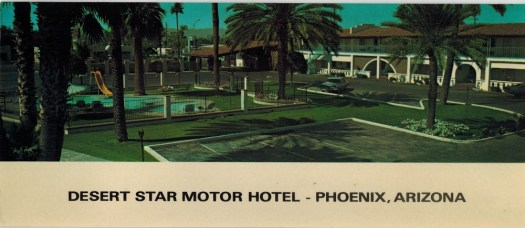 Patrick's post card from Phoenix. Picture of the motel where they were staying.