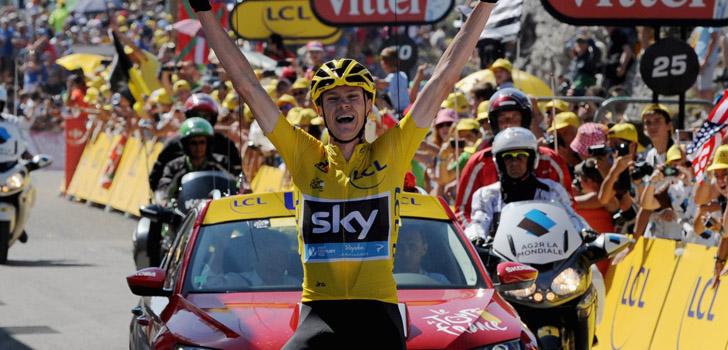 Chris Froome wint de tiende etappe. Foto: Sirotti