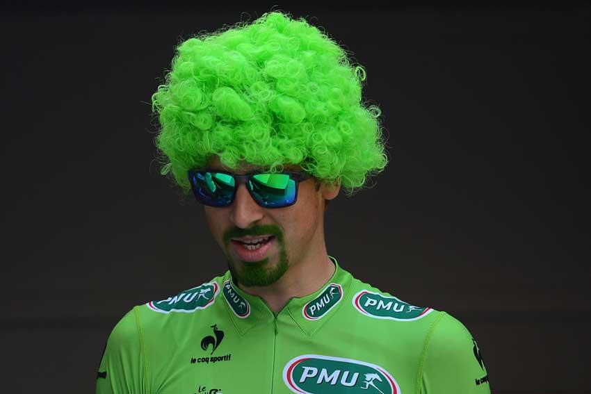 Peter Sagan won al vier keer de groene trui