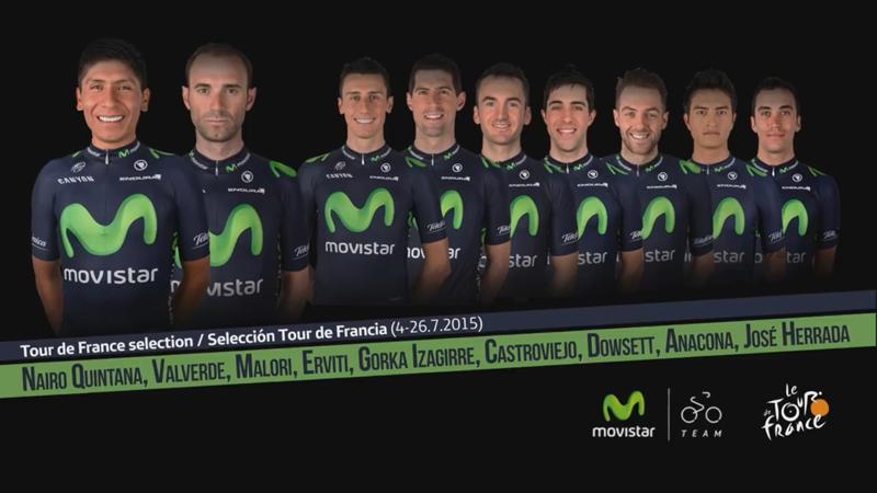 Team Movistar Tour de France 2015