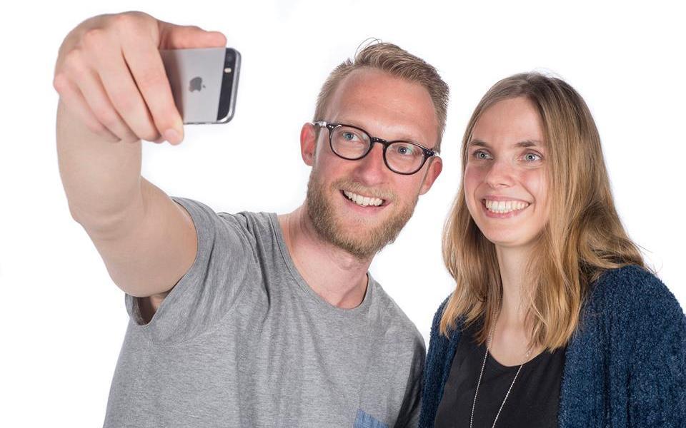 Patrick en Charlotte voor Open Dag ETZ